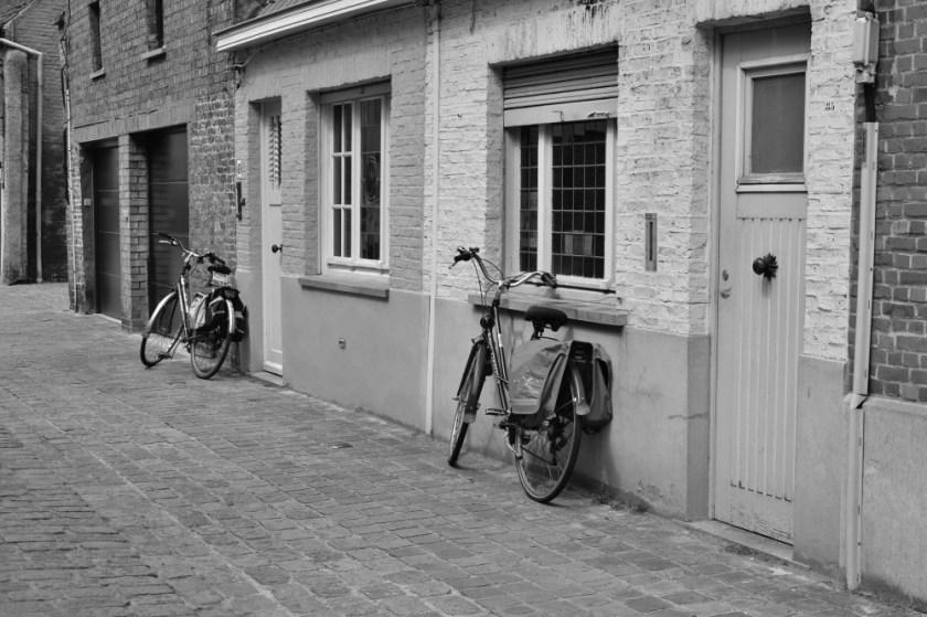 Bikes in Bruges, Belgium