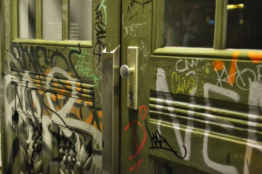 Graffiti door in Berlin, Germany