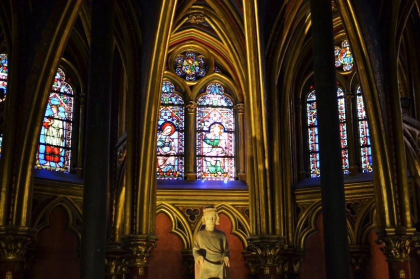 Lower chapel of Sainte-Chapelle in Paris, France