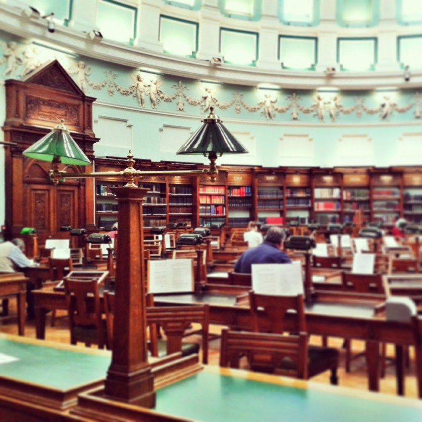 Reading room of the National Library, Dublin, Ireland