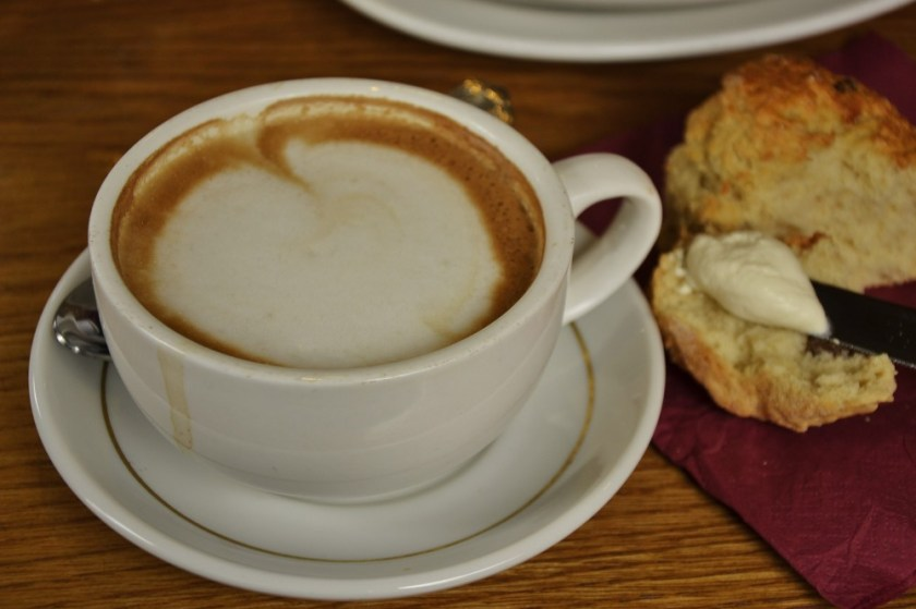 Coffee and scones on the Hill of Tara, Ireland