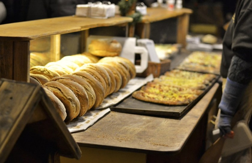 Baked goods, Christmas market in Kassel, Germany