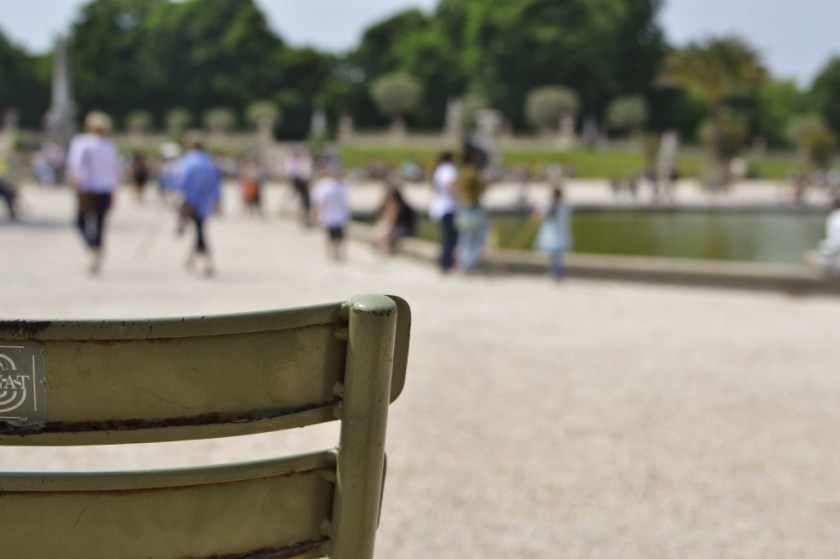 Green park chair in Paris