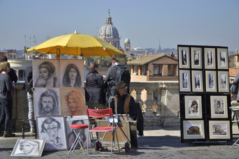 Artists in Rome, Italy
