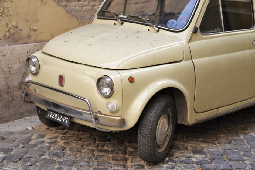 Fiat 500 in Rome, Italy