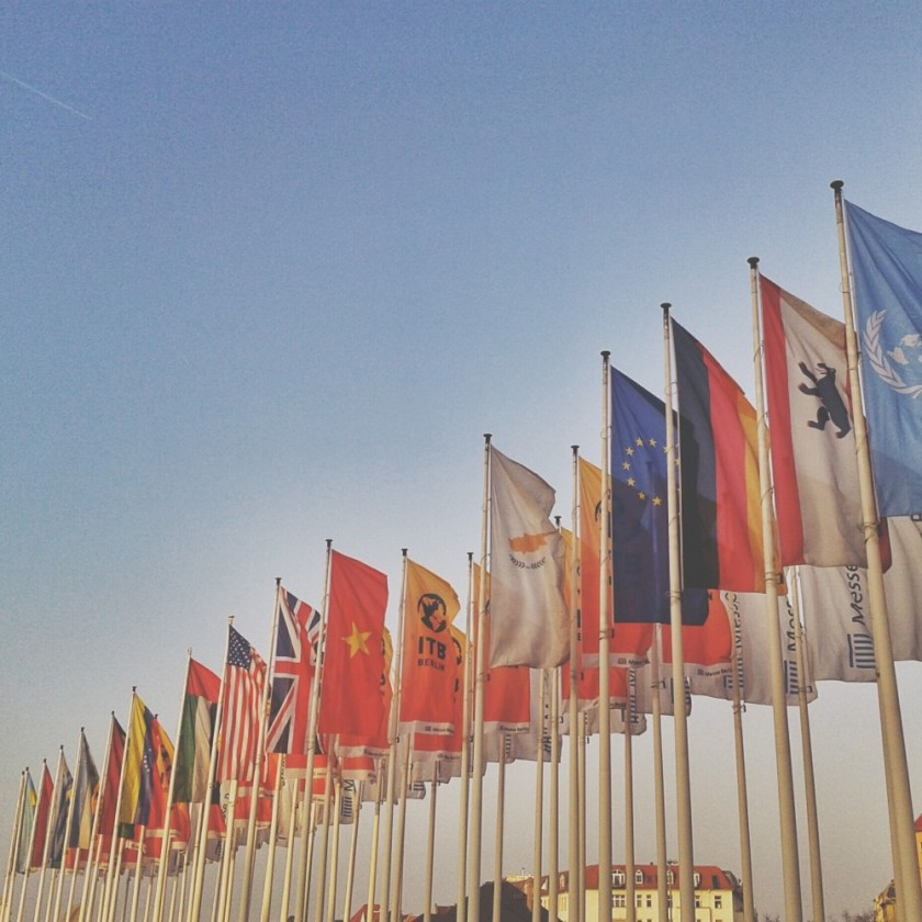 ITB flags, Berlin, Germany
