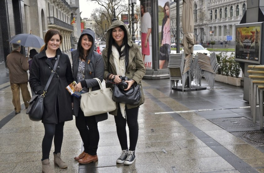 #GirlsGoneMAD on a rainy day in Madrid, Spain