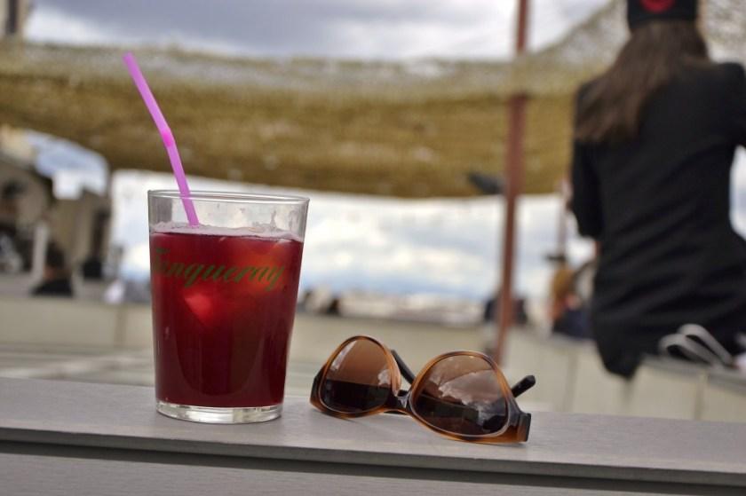 Rooftop drinks, Madrid, Spain