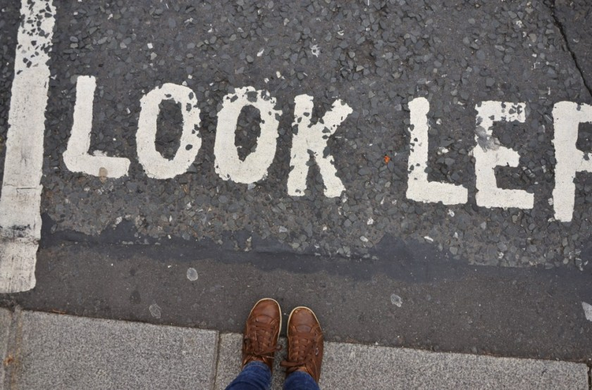 Look left, Dublin, Ireland