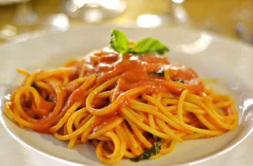 Pasta in Rome, Italy
