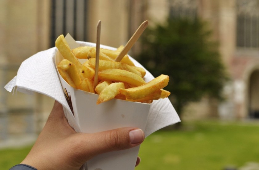 Fries in Bruges, Belgium