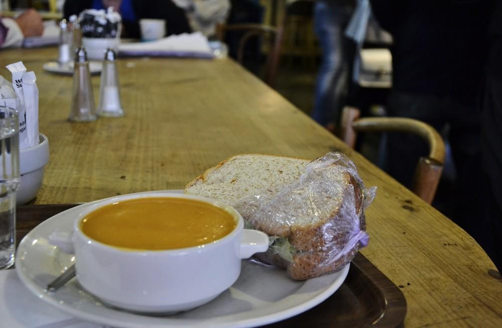 Solo lunch in Dublin