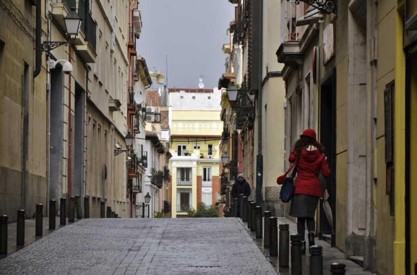 Rainy spring day in Madrid