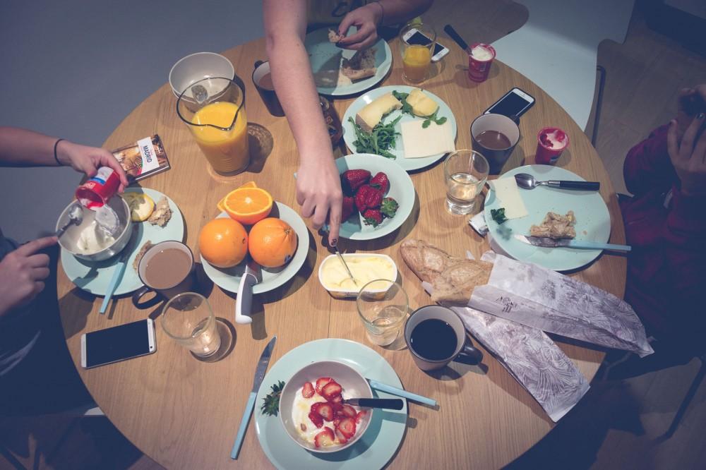 Girls getaway breakfast in Madrid, Spain