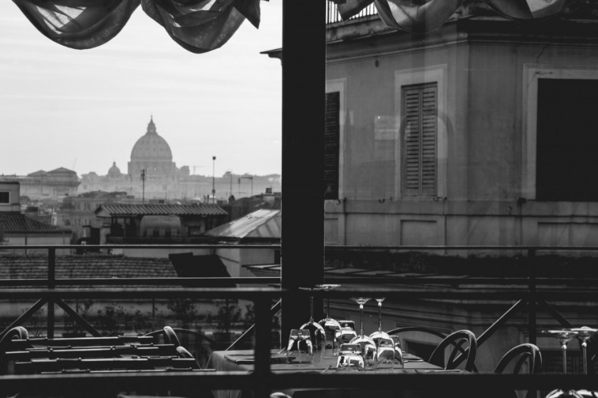 Rome, Italy in black and white