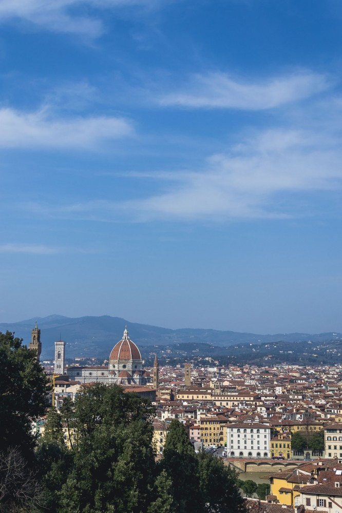 The Bardini Gardens offer the most pretty view over Florence, Italy