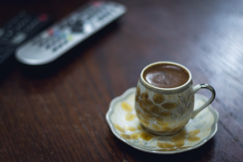 Coffee in a local's house in Amman, Jordan