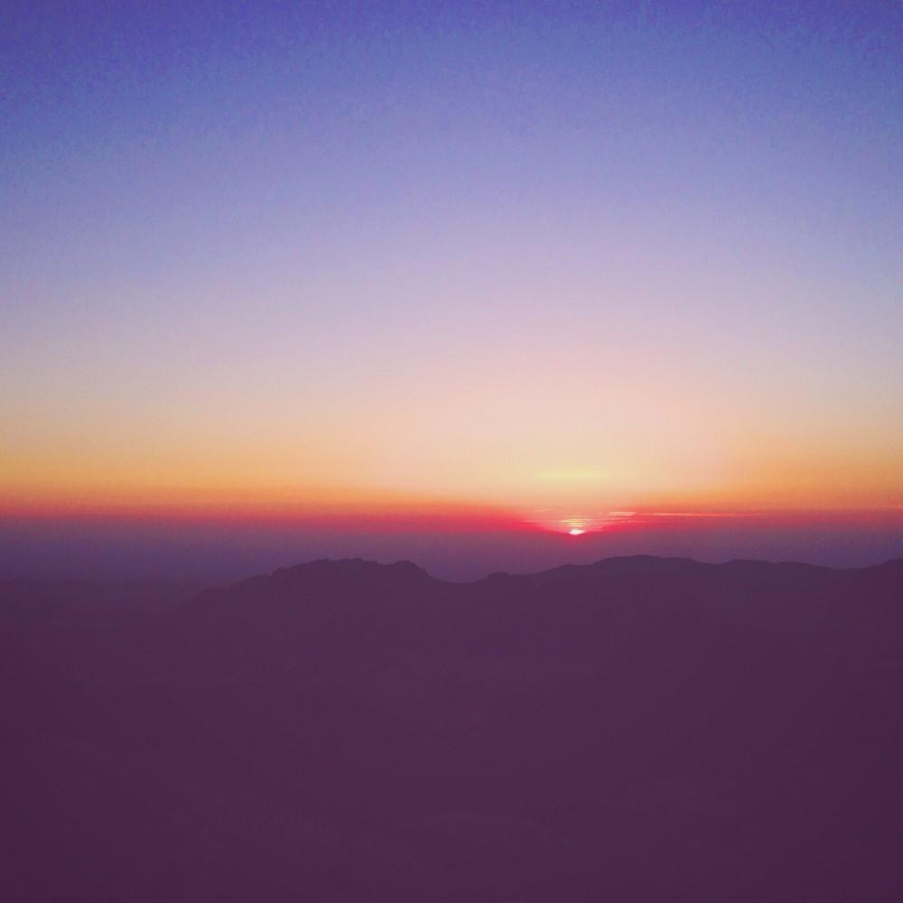 Sunset in Wadi Musa, Jordan