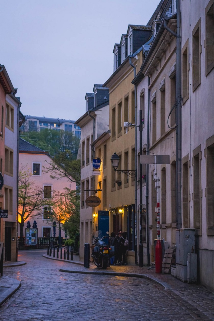 Luxembourg City at dusk