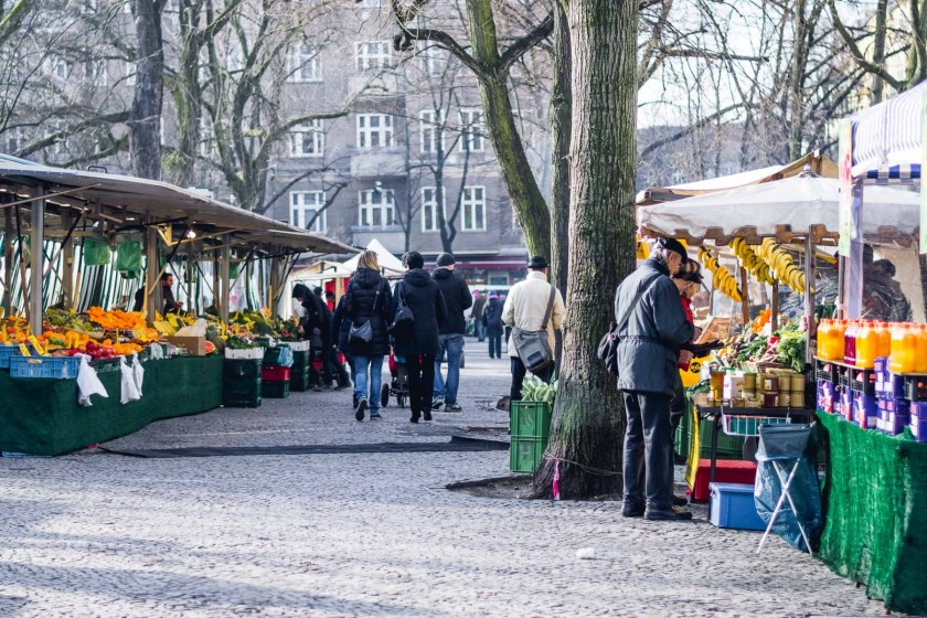 Farmers' market in Berlin, Germany
