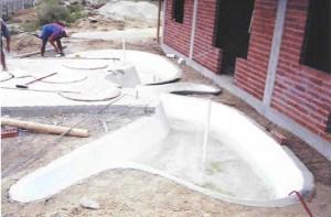 """Construcción del """"pequeño estanque"""""""