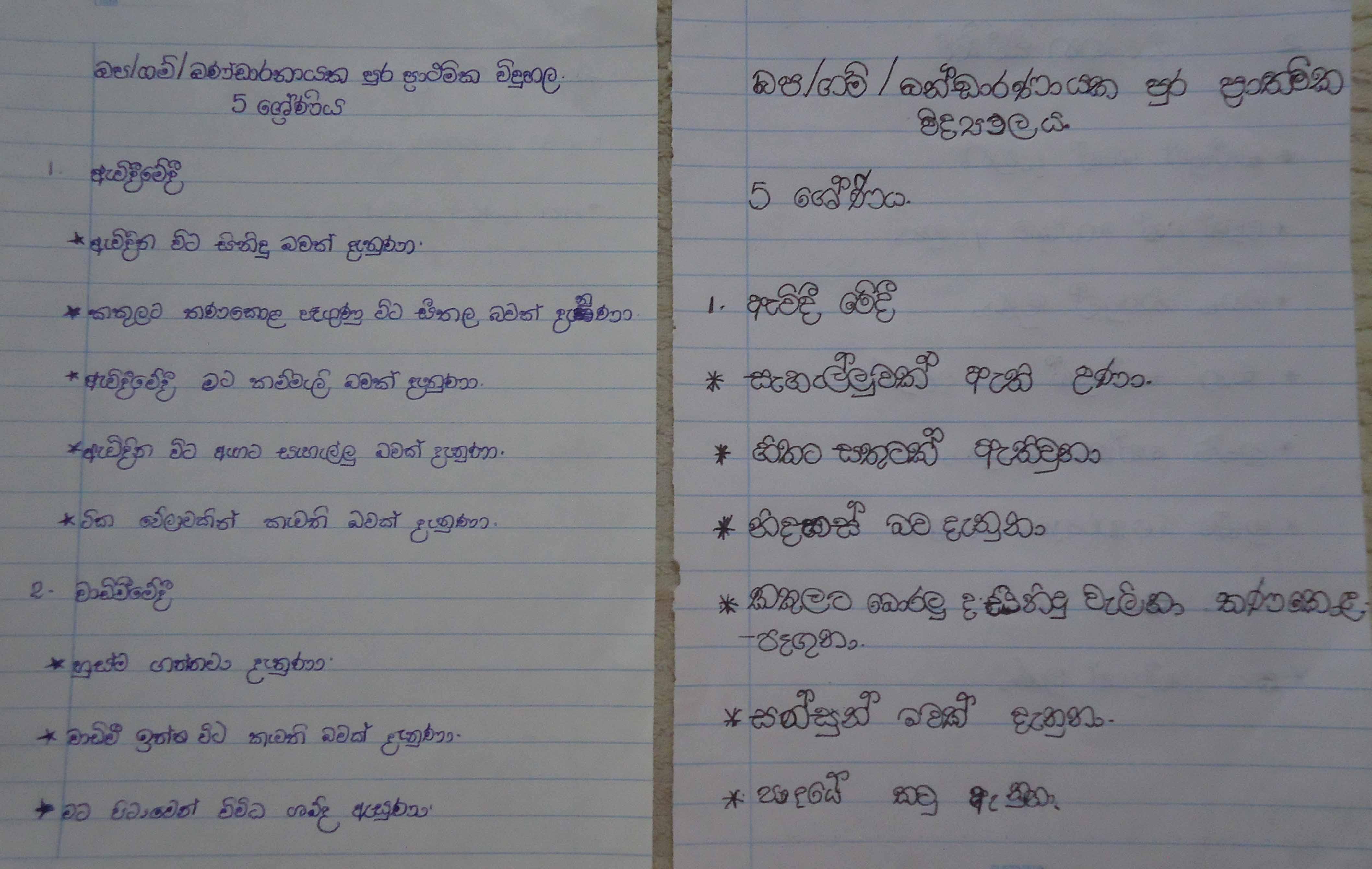 Feedback from students-WP GM Bandaranayakepura Primary School, Kirindiwela (9)