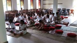 Mindfulness program at Swiss Lanka Daham Sevana Meditation Centre