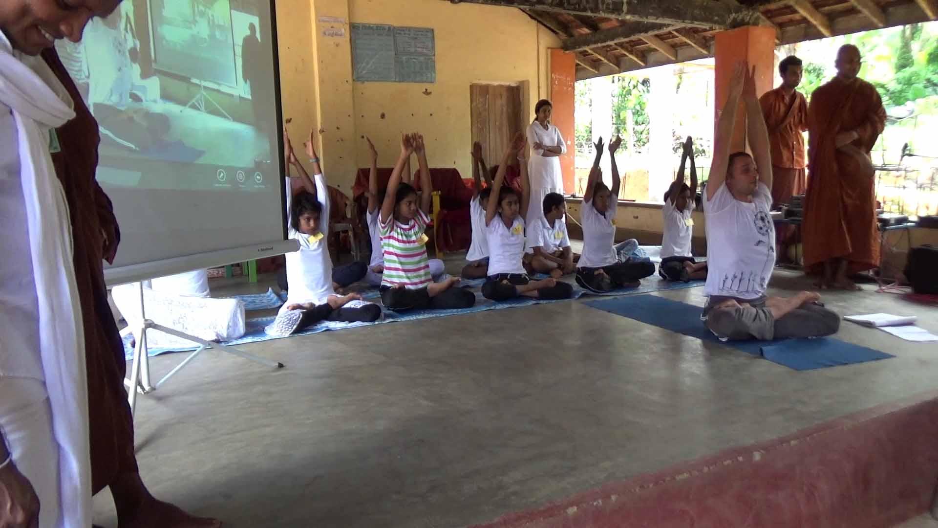 Sati Camp at Meethirigala Kanishta Vidyalaya-yoga session (17)