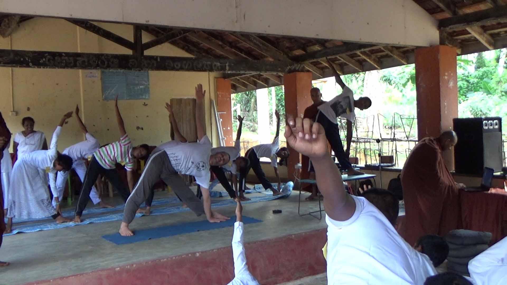 Sati Camp at Meethirigala Kanishta Vidyalaya-yoga session (3)