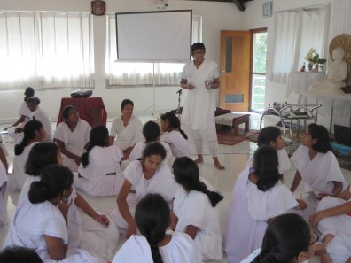 Sati Pasala two day residential retreat for Grade 10 Junior Prefects of Visakha Vidyalaya