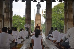 Interfaith Meditation The 'super glue' of mindfulness at the Independence Square on Saturday December 2nd (5)