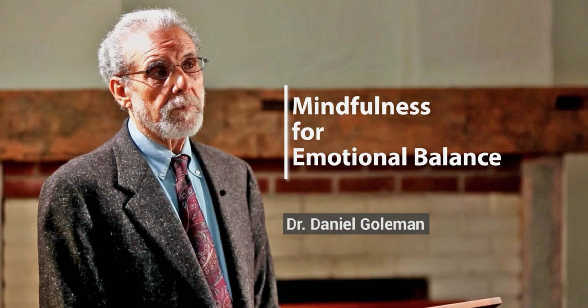 Dr. Daniel Goleman at Global Mindfulness Summit 2018