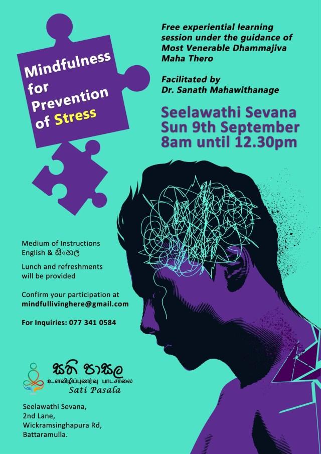 Mindfulness for Prevention of Stress Program at Seelawathi Sevana 1