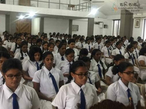 Sati Pasala Programme at Musaeus College, Colombo 7
