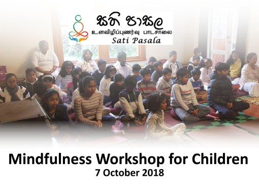 Workshop on Mindfulness held on 7 October 2018 in Wellington, New Zealand