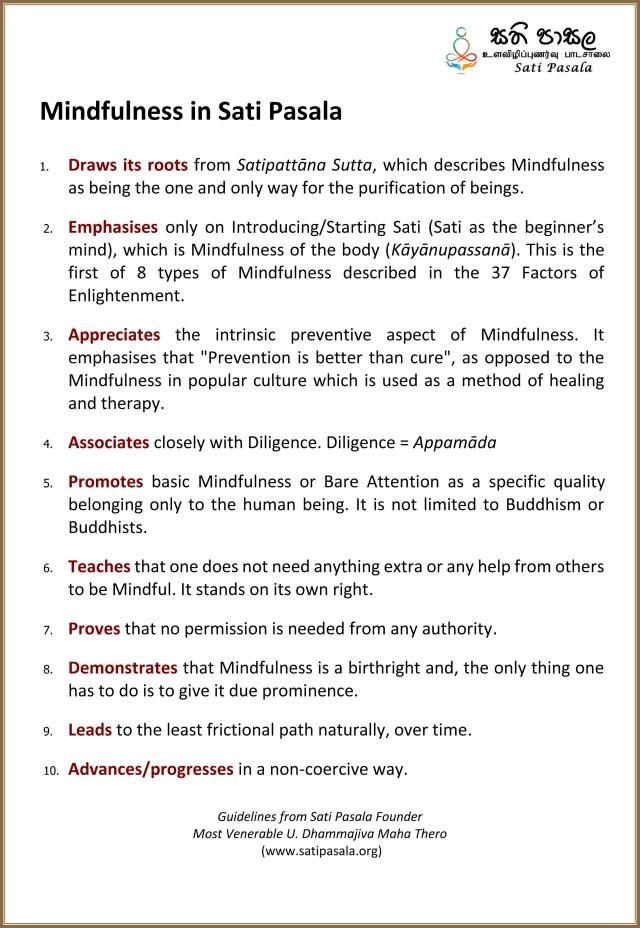 10 Points Guideline (English)-Sati Pasala