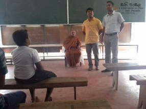 Sati Pasala Mindfulness Programme for Vishva Institute, Mawanella (2)