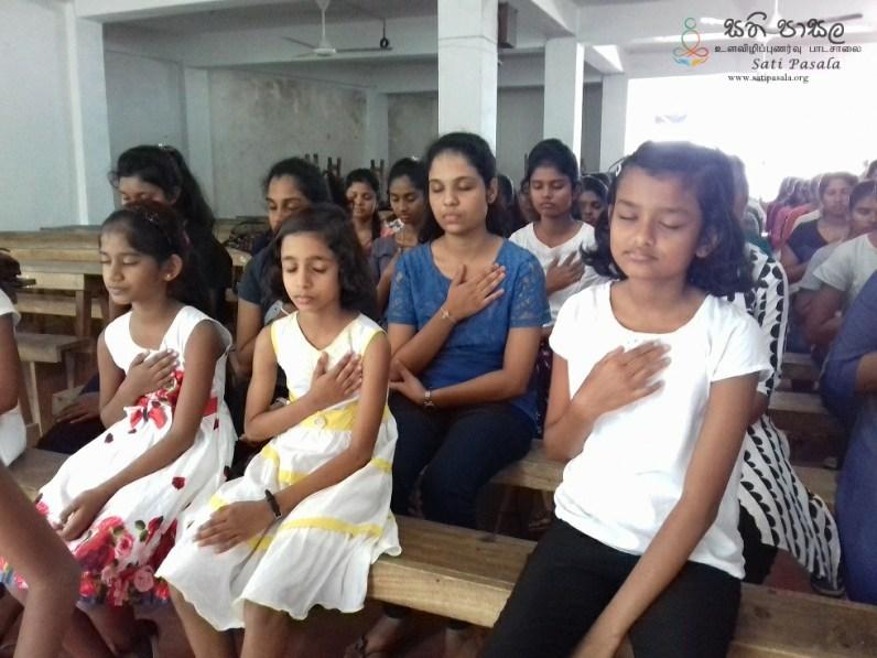 Sati Pasala Mindfulness Programme for Vishva Institute, Mawanella (28)