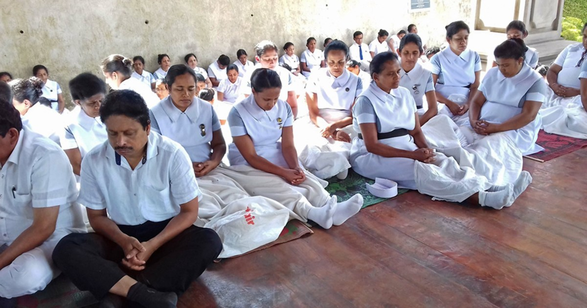 Sati Pasala Mindfulness Programme at Kandy General Hospital