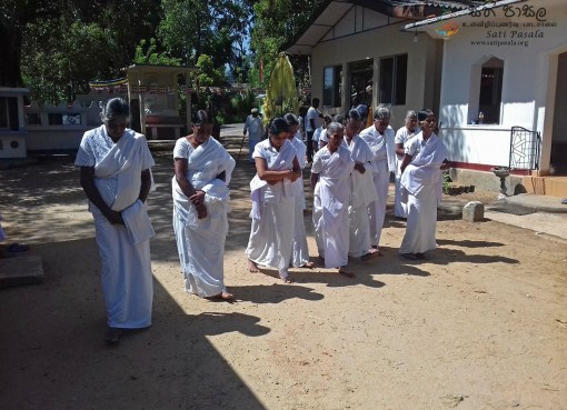 Sati Pasala Programme at Deldeniya Rajamaha Viharaya, Menikdiwela