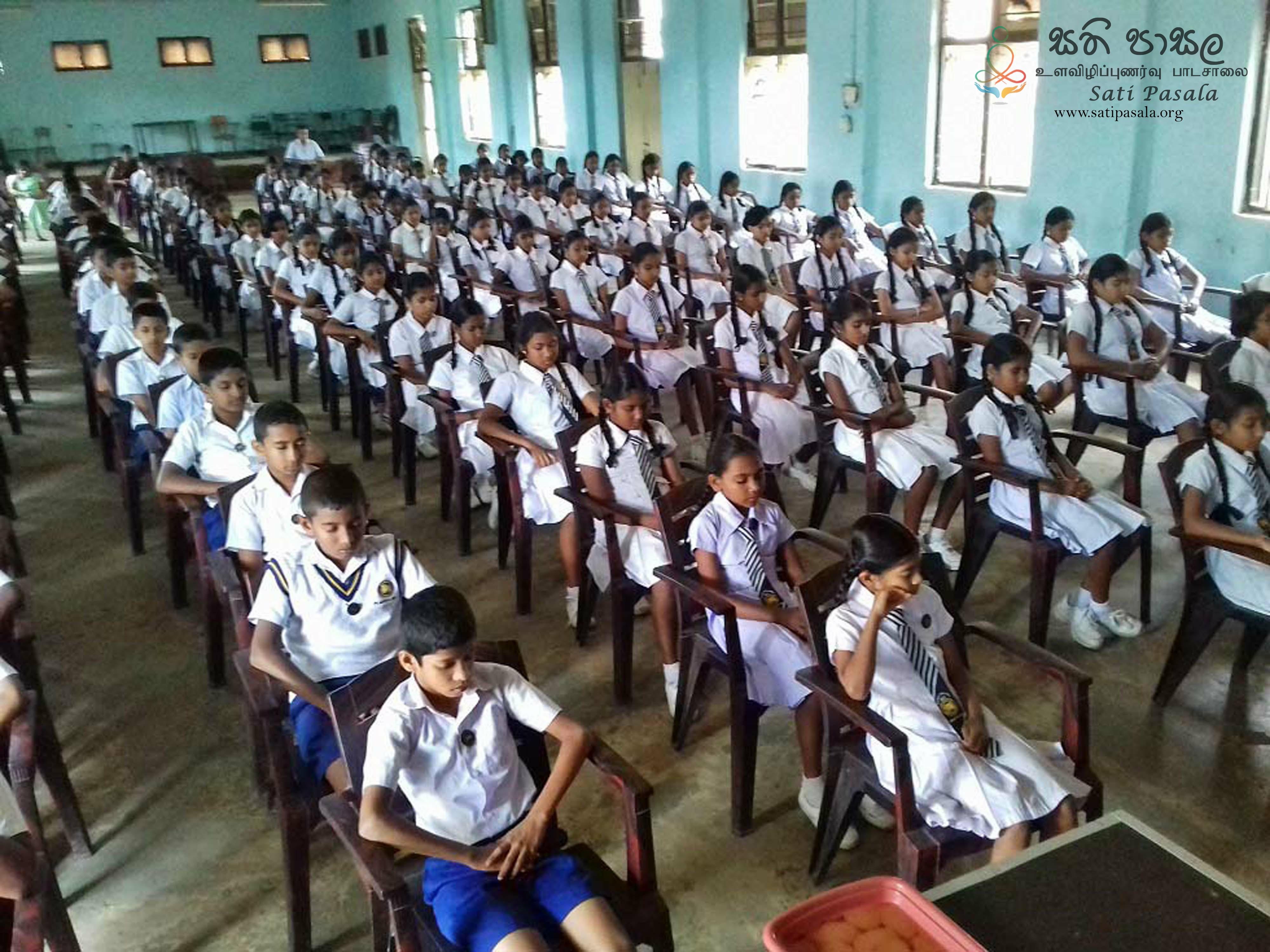 Sati Pasala Mindfulness Program at Pilimathalawa Central College