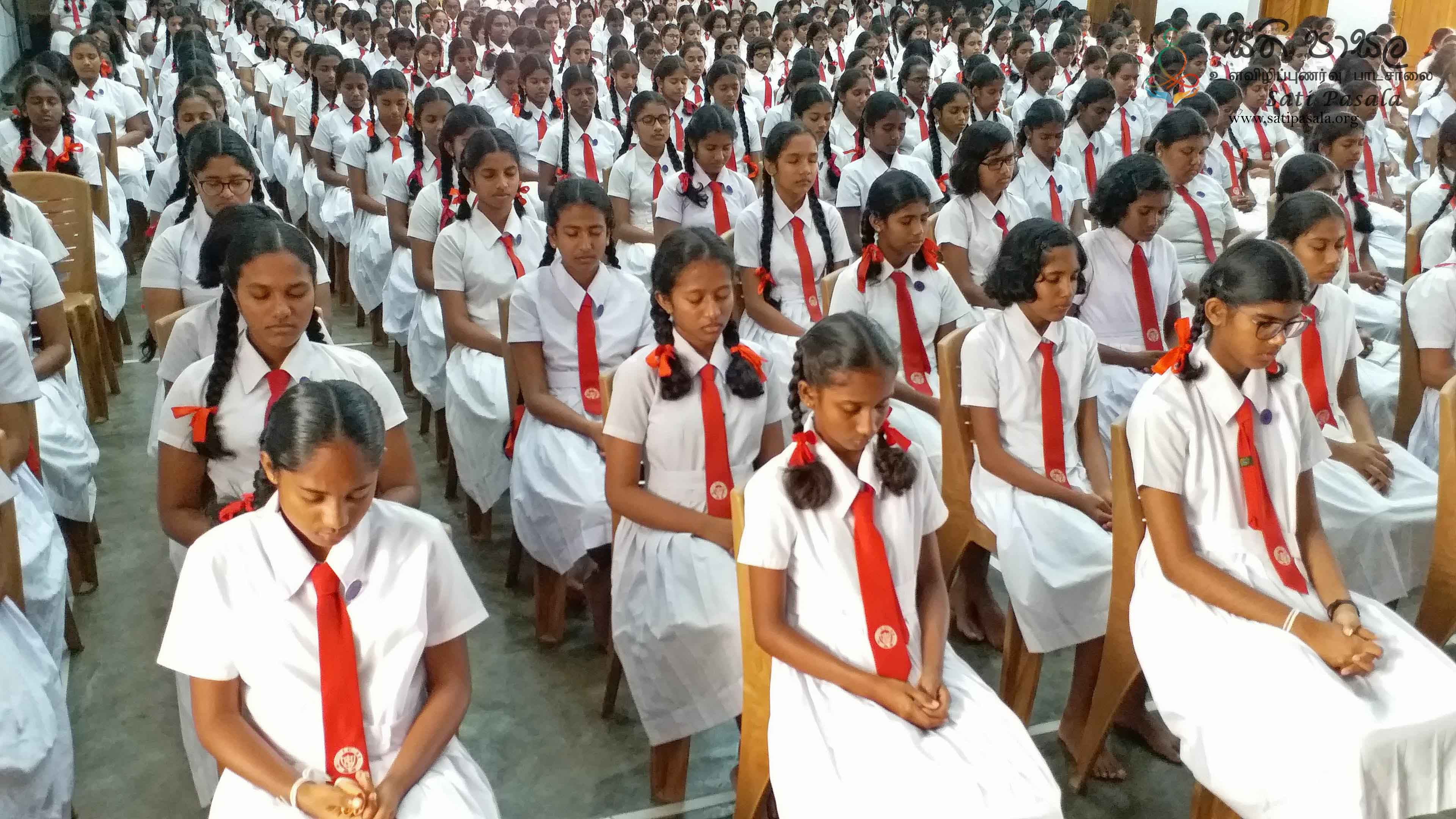 Sati Pasala Mindfulness Programme for Southlands College, Galle