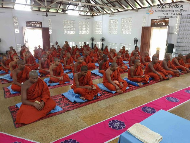 Sati Pasala Mindfulness Programme at Vipasana Meditation Center, Kalalgoda