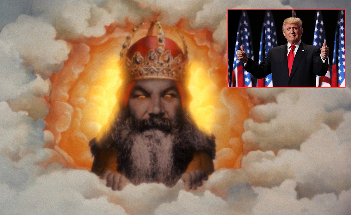 God Clarifies Trump is the 'Chosen One to Warn Others Not to Become Fat, Slovenly, Racist Morons'