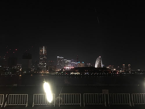 横浜の夜景(大桟橋付近)