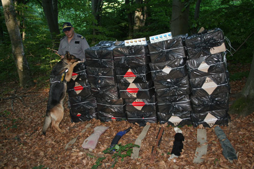 12.000 pachete de ţigări descoperite de poliţiştii de frontieră negreşteni