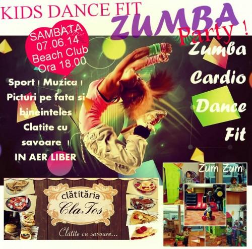 Zumba Party Pentru Copii şi Nu Numai Sâmbătă La Beach Club
