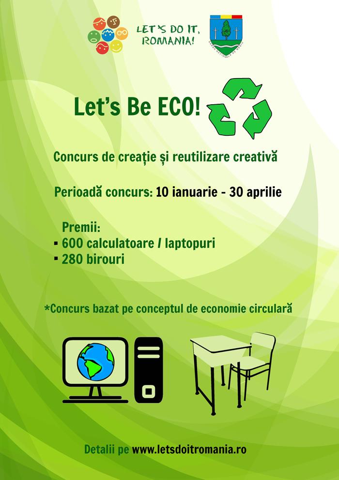Let's Be ECO! 280 de birouri și 600 de calculatoare puse în joc pentru școlile din mediul rural