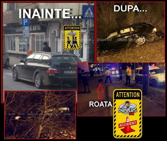 Accident spectaculos în municipiul Satu Mare. A ajuns cu mașina în lacul Pescăruș
