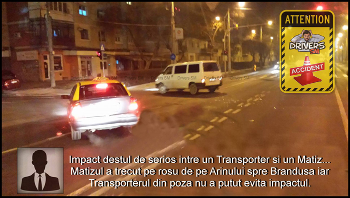 Accident în municipiul Satu Mare. Vezi detalii (Foto)